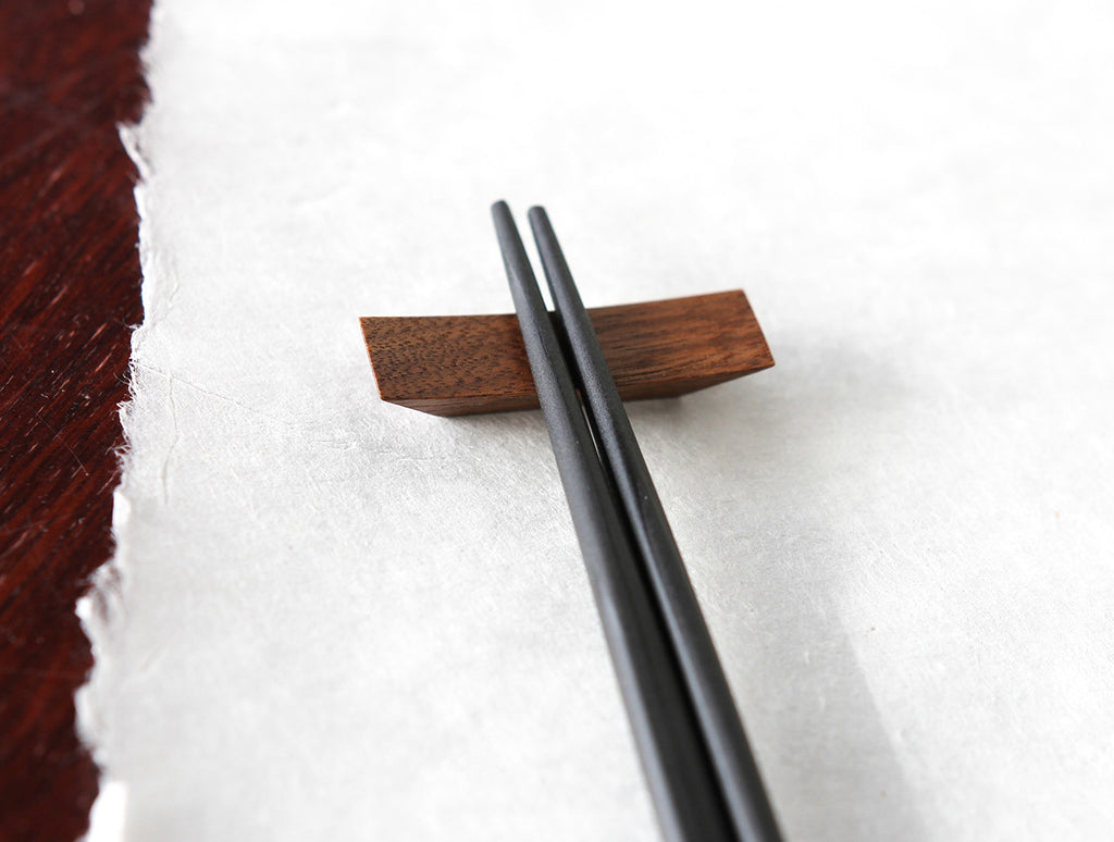Walnut Chopstick Rest by Studio KUKU at OEN Shop