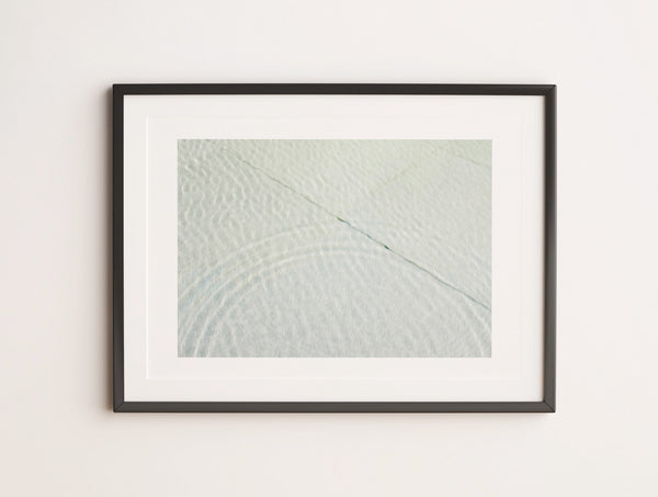 Zen Ripple Abstract Print