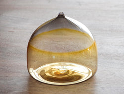Amber Grey Glass Round Vase