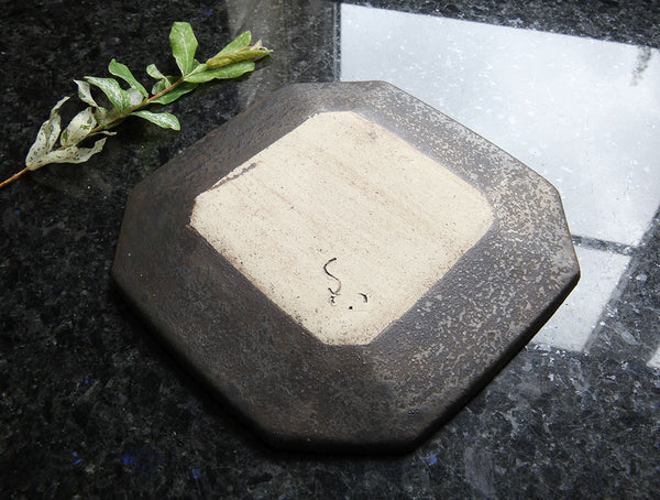 Rustic Black Square Dish