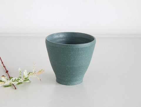 Matte Green Stone Sake Cup by Mark Robinson