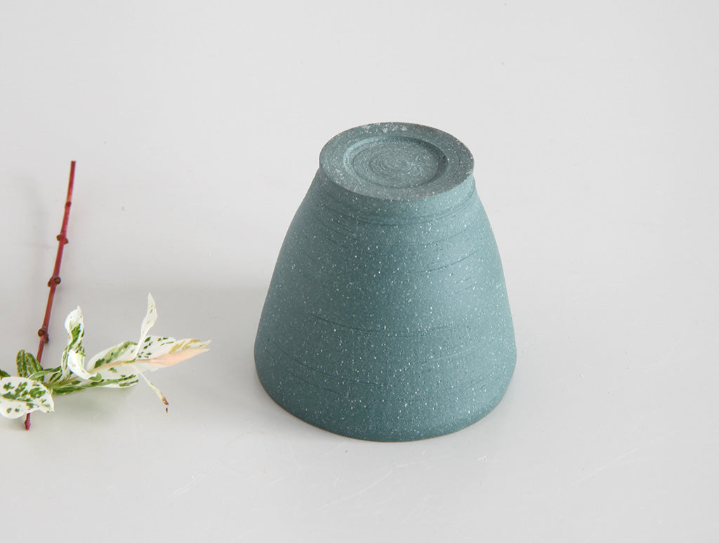 Matte Green Stone Sake Cup by Mark Robinson at OEN Shop