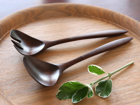 Walnut Serving Spoon & Fork Set by Atelier tree song