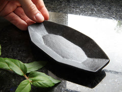 Black Small Segmented Dish by Yumiko Yasufuku at OEN Shop