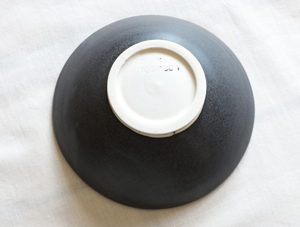 Small Black Open Bowl by Mark Robinson at OEN Shop