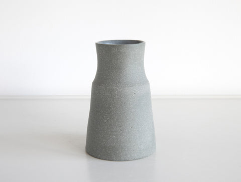 Small Grey Stone Tapered Vase by Mark Robinson
