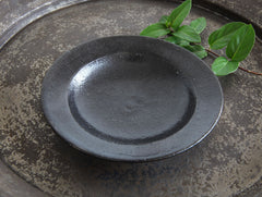 Rustic Small Black Bowl by Yumiko Yasufuku at OEN Shop