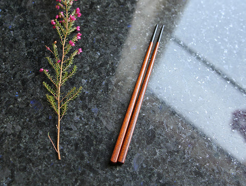 Small Black Tipped Chopsticks by Maiko Okuno