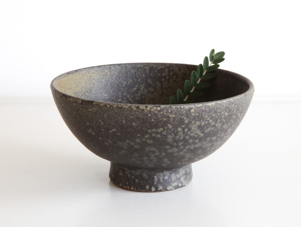 Small Green Speckled Bowl by Mushimegane Books at OEN Shop