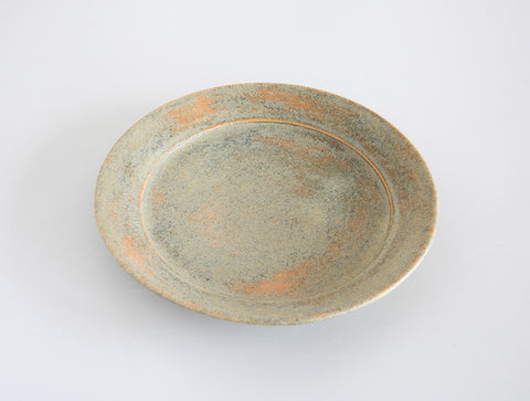 Small Green Brushed Plate by Mark Robinson