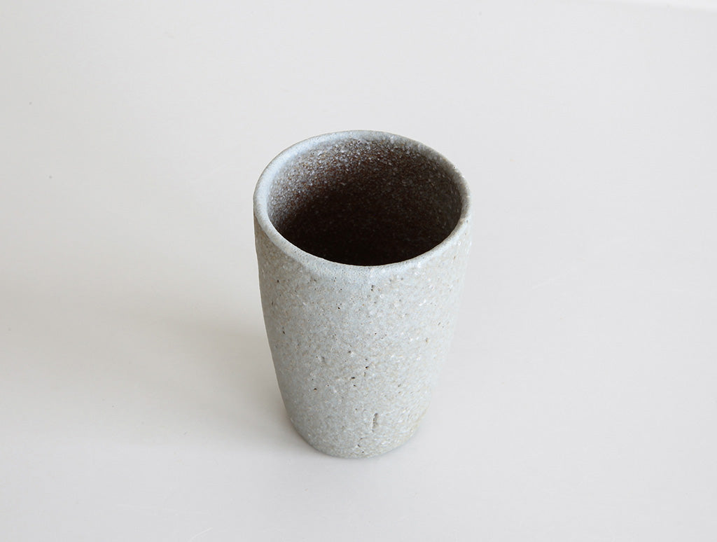 Small Grey Mountain Cup by Mushimegane Books at OEN Shop