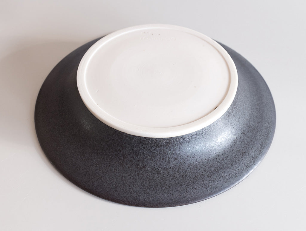 Small Black Open Plate by Mark Robinson at OEN Shop