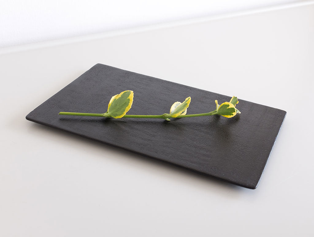Small Slate Dish by Akihiko Sugita at OEN Shop