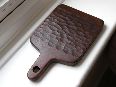 Carved Walnut Chopping Board by Atelier tree song