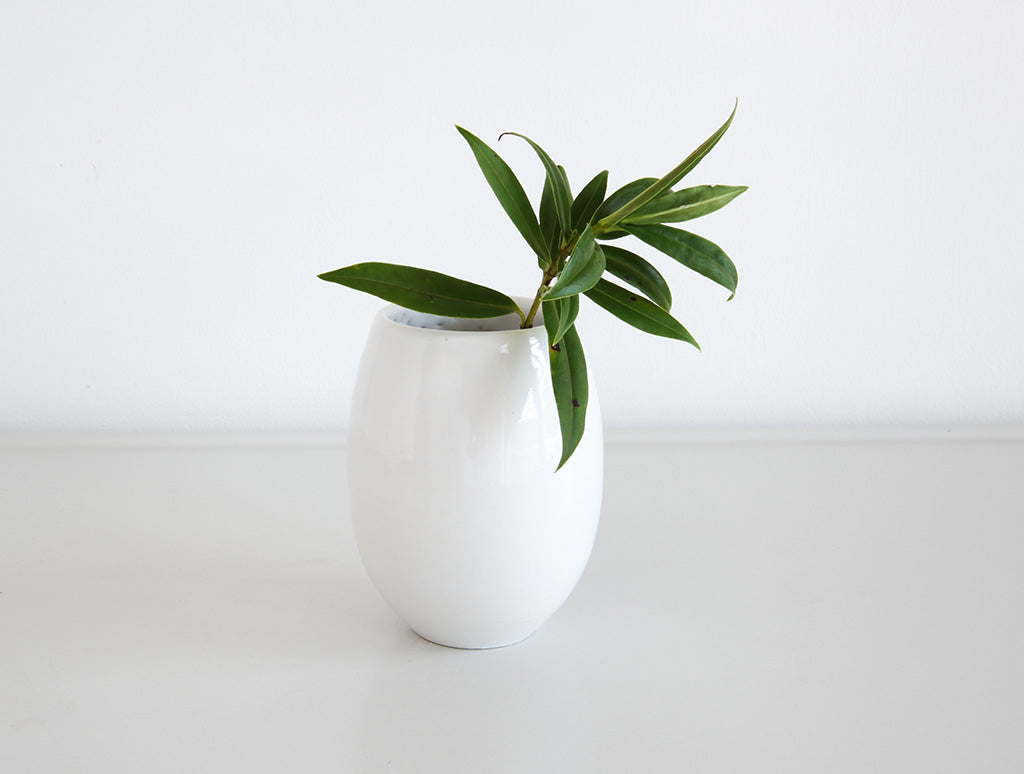 Small White Bud Vase by Mark Robinson at OEN Shop