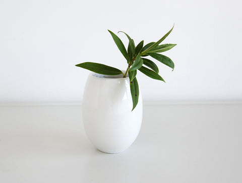 Small White Bud Vase by Mark Robinson