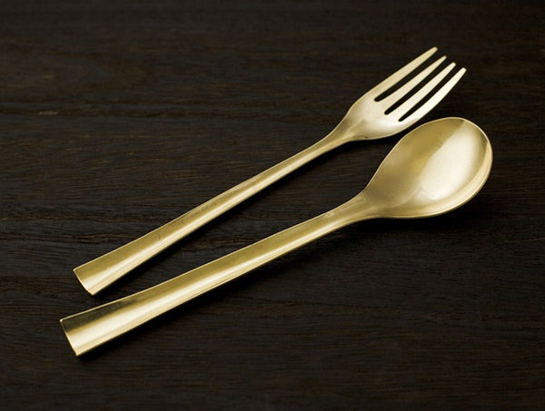 Brass Dinner Spoon Set