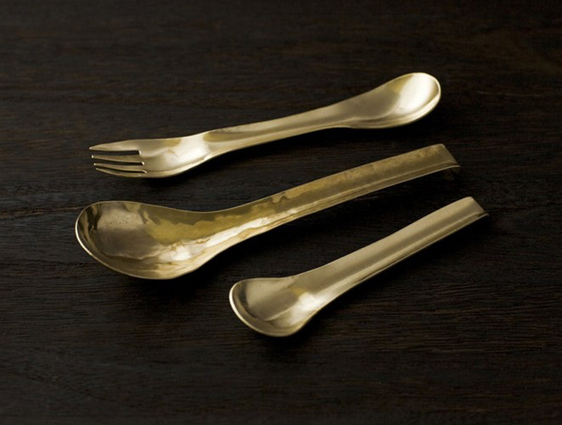 Brass Spork Set