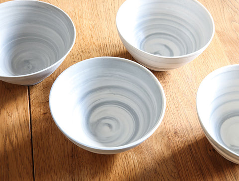 Small Grey Spiral Bowl