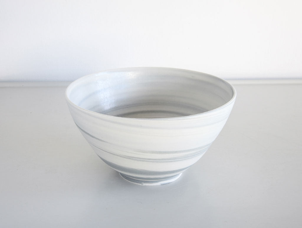 Small Grey Spiral Bowl by Mark Robinson at OEN Shop
