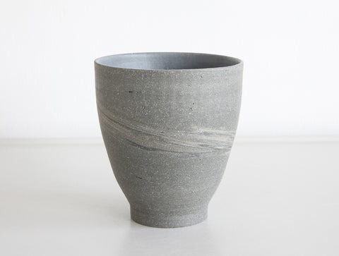 Grey Swirl Stone Cup by Mark Robinson
