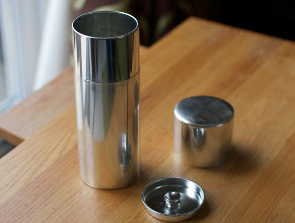 Tall Round Tin Can