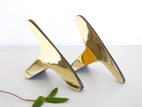 T Polished Bookends by Carl Auböck