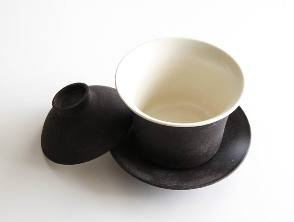 Brushed Black Lidded Cup