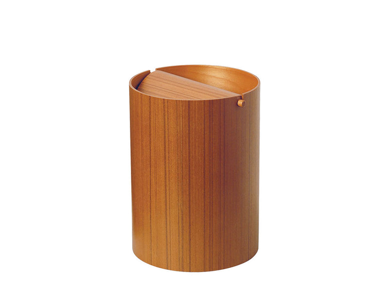BASKET Flap Lid Teak Grain