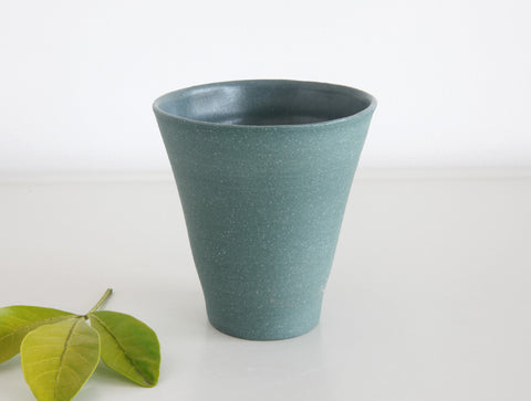 Thin Teal Stone Cup by Mark Robinson