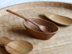 Small Teak Oval Bowl by Warang Wayan at OEN Shop