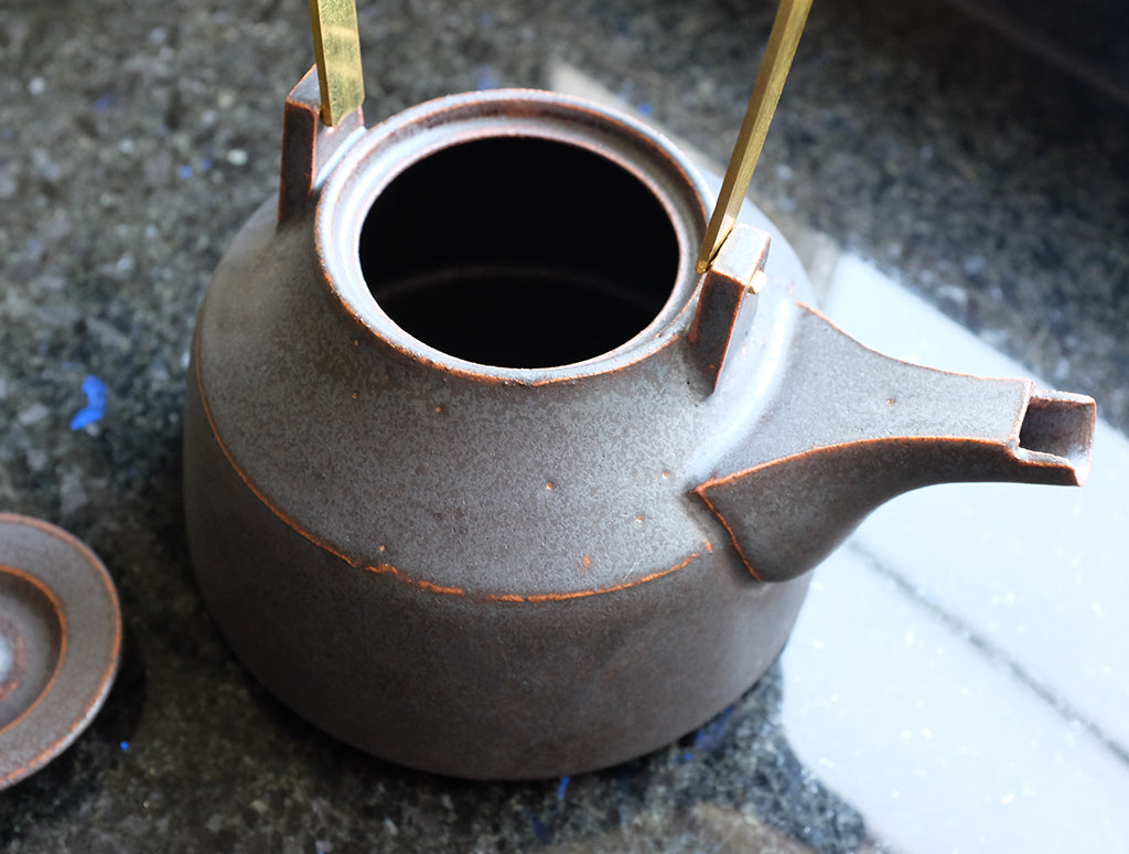 Brass Handle Pot by Shinobu Hashimoto at OEN Shop