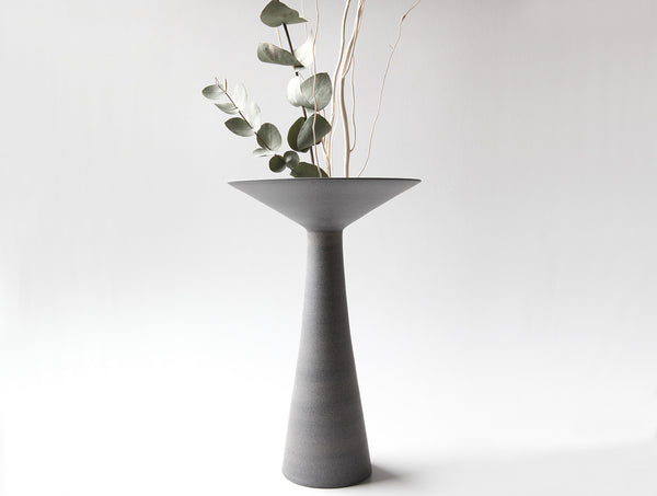 Long Neck Grey Vase