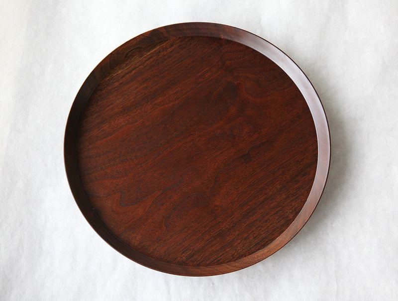 Circle Walnut Tray