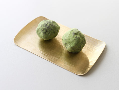 Flat Brass Tray by Yuta Craft