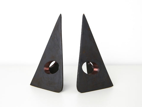 Triangle Bookends by Carl Auböck