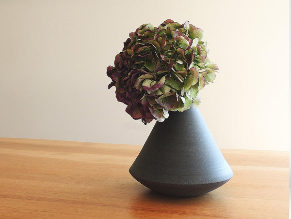 Grey Triangle Vase