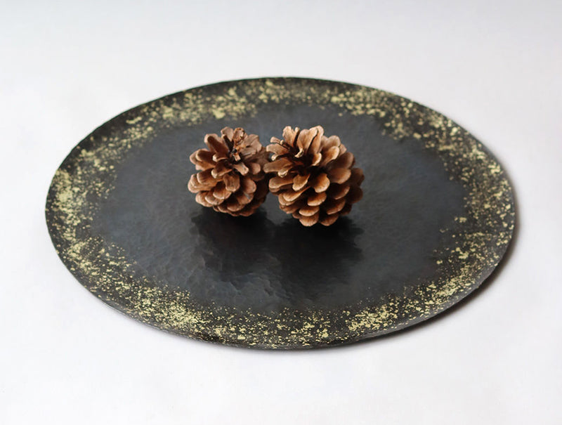 Golden Scatter Moon Tray