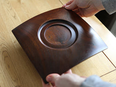 Walnut Corner Dish by Atelier tree song at OEN Shop