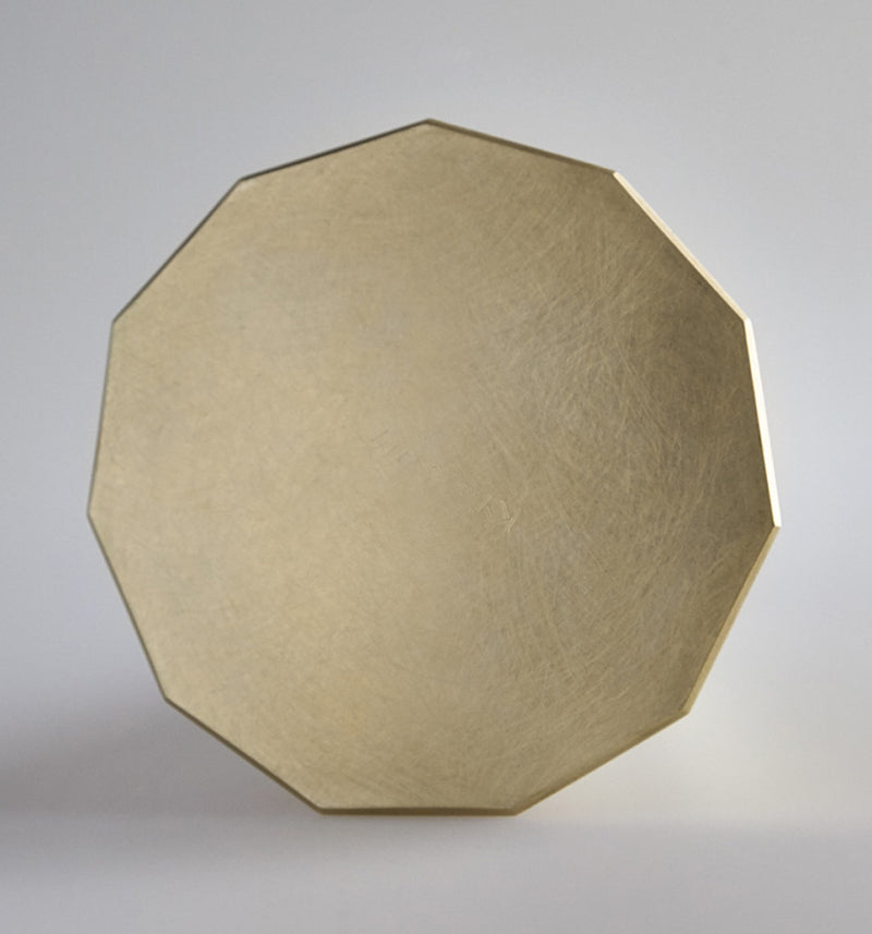 Brass Decagon Vase