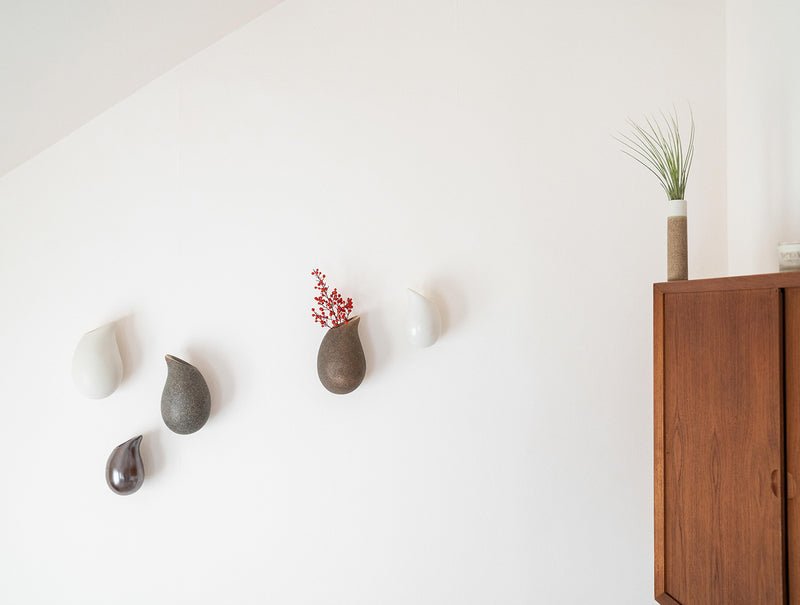 Moss Droplet Wall Vase S