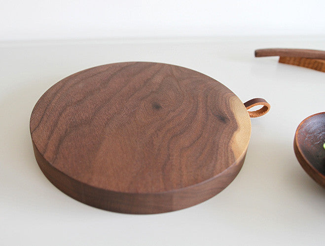 Circular Walnut Board