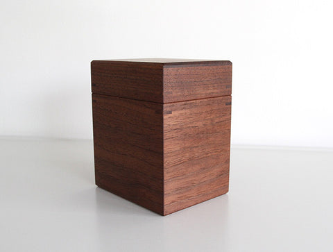 Walnut Tea Canister by Fujii Works