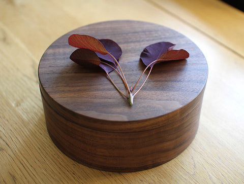 Walnut Container by Masahiro Endo
