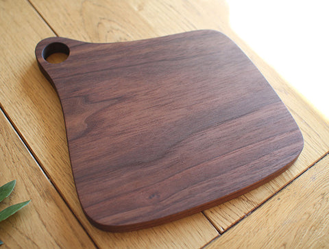 Shaped Walnut Chopping Board by Masahiro Endo