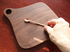 Shaped Walnut Chopping Board by Masahiro Endo at OEN Shop