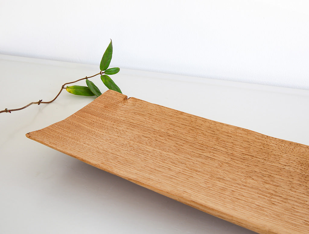 Long Light Walnut Dish by Toru Sugimura at OEN Shop