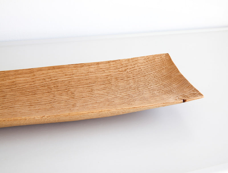 Long Light Walnut Dish