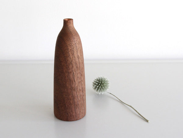 Shaped Walnut Vase