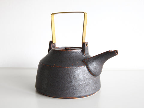 Brass Handle Pot by Shinobu Hashimoto